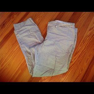 Crown & Ivy Seersucker Crop Pants Size 12